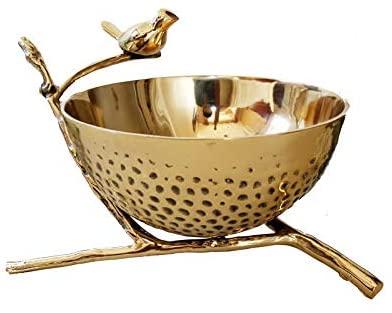 NDHENG Ice Bucket, Champagne Wine Beer Bottle Ice Bucket Cooler Party Punch Bowl - Retro Bar Restaurant Handmade Brass Ice Bucket