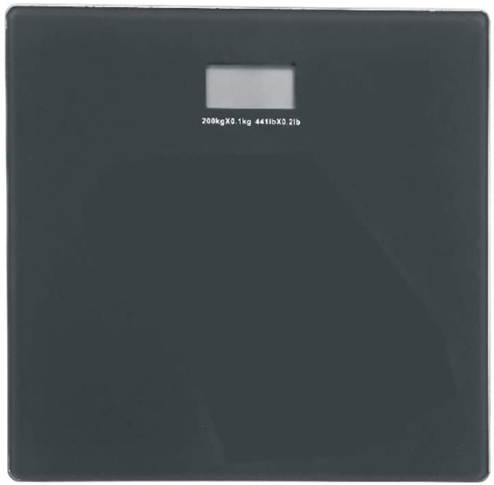 YILUYC Electronic Scale,Bathroom Health Electronic Weight Scale Maximum Load Capacity 440 Pounds Three Unit Conversion Slim Design Blue Backlit Display Black