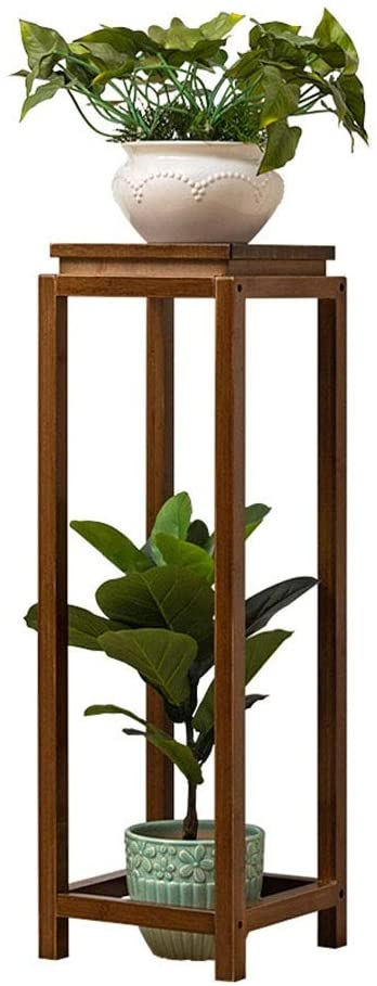 Flower Stand Plant Stand Indoor Decoration Square Flower Stand Floor-Standing Succulent Green Plant Pot Perfect for Home Garden Patio (Color : Brown, Size : 92x30cm)