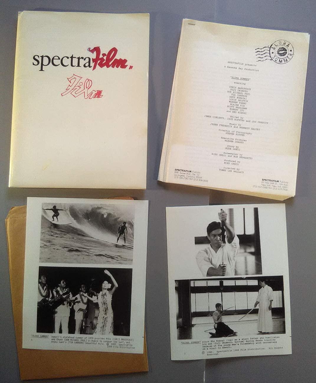 Press kit~ Aloha Summer ~1988 ~Chris Makepeace ~Tia Carrere ~Don Michael Paul