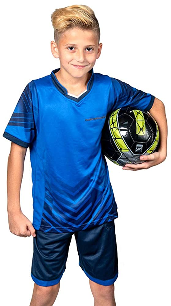 PAIRFORMANCE Boys' Soccer Jerseys Sports Team Training Uniform Age 4-12 Boys-Girls Youth Shirts and Shorts Set Indoor Soccer.
