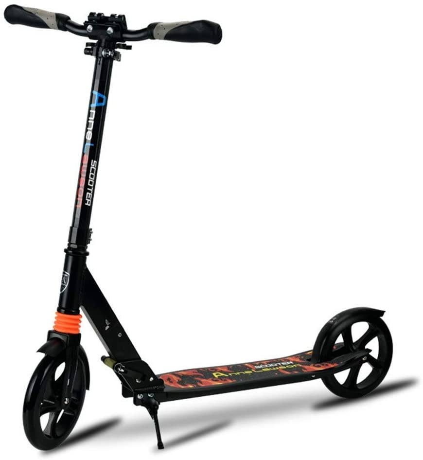 YYIN Adjustable Height Adults/Teens/Kids Kick Scooters with 3 Seconds Easy-Folding System, Adjustable Handlebars with Rear Fender Brake and 200mm Large Wheels, Non-Electric A Kick Scooter