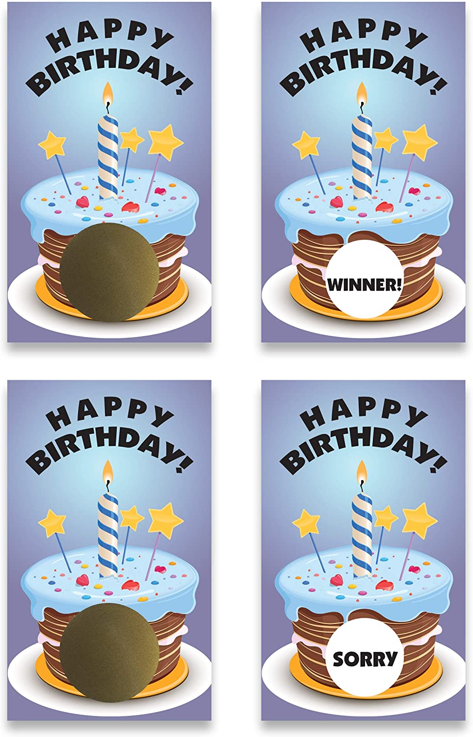 My Scratch Offs Happy Birthday Scratch Off Game Card - 25 Pack