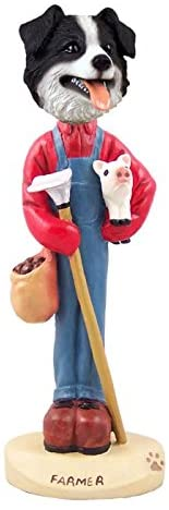 Border Collie Farmer Doogie Collectable Figurine