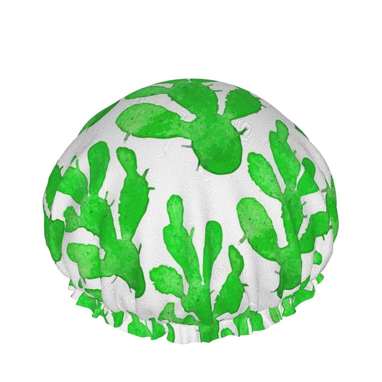 Waterproof Shower Cap PEVA Lined Shower Cap,Waterproof Reusable Large Elastic Bath Hair Cap Oversized Design for All Hair Lengths, Elasticized Hem Suitable For Women's Spa, Hair Salon, Family、Travel