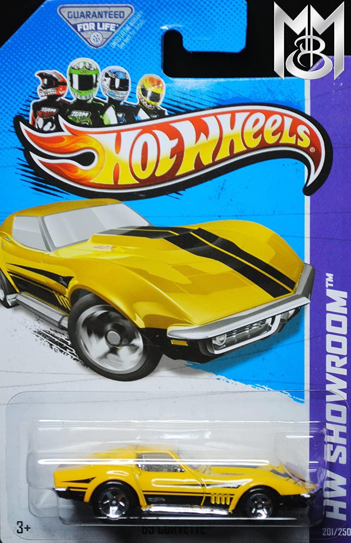 Hot Wheels 2013 '69 Corvette HW Showroom Yellow 201/250