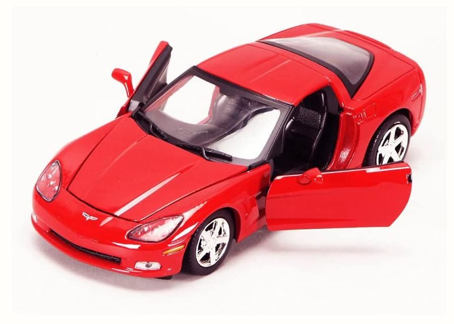 Motor Max 2005 Chevy Corvette C6, Red 73270AC - 1/24 Scale Diecast Model Toy Car