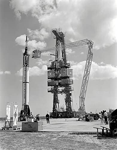 Mercury-Redstone 3 prelaunch activities on the Mercury 5 launch pad Poster Print by Stocktrek Images (11 x 17)