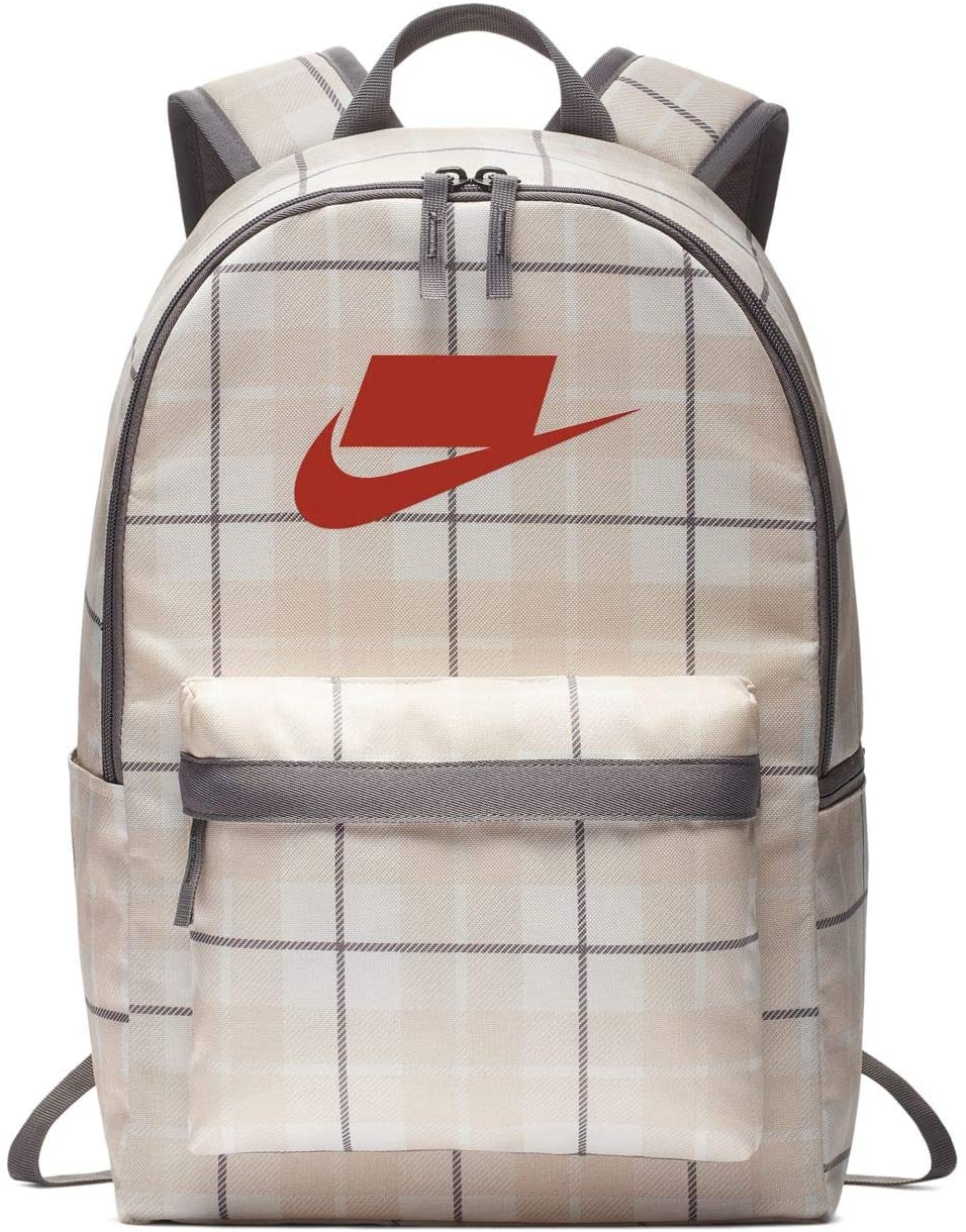 Nike Heritage All Over Print Backpack 2.0 (One Size, Phantom(BA5880-030)/Red)