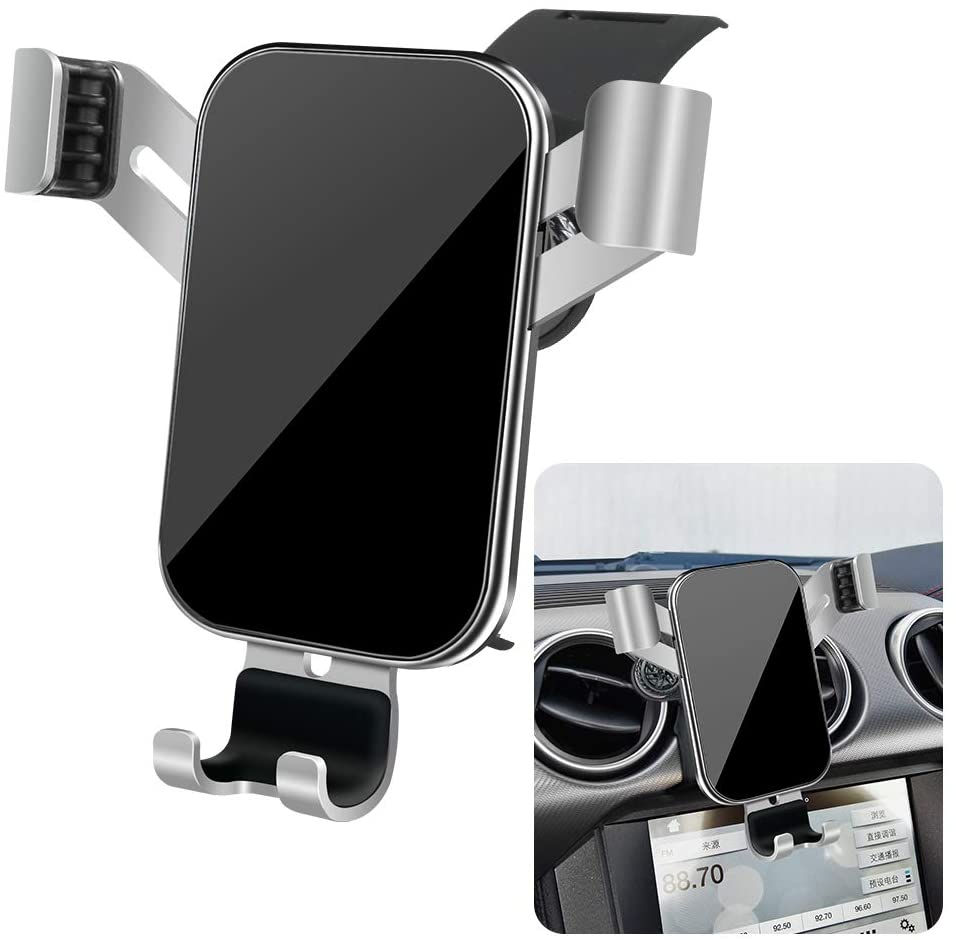LUNQIN Car Phone Holder for 2016-2020 Ford Mustang Auto Accessories Navigation Bracket Interior Decoration Mobile Cell Phone Mount