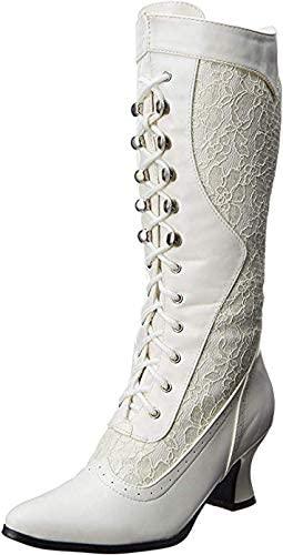 Ellie Shoes Women's 253-Rebecca Lace Heel Boot