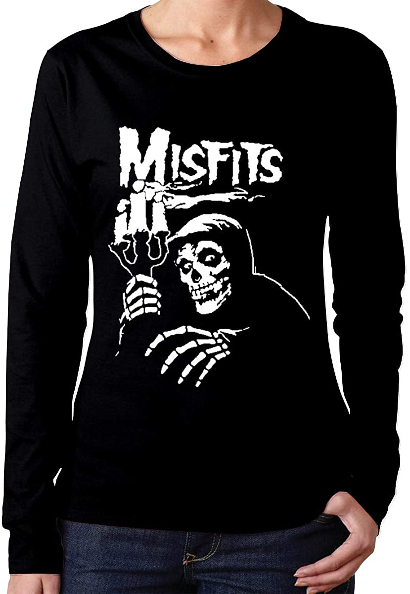 AP.Room Women's Long Sleeve T-Shirts Misfits Cool Personality Design Black