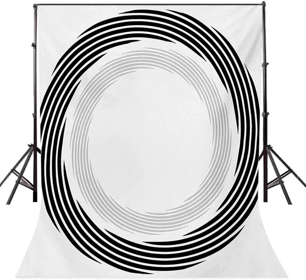 10x20 FT Photo Backdrops,Abstract Circular Element with Interlace Spinning Concentric Rings Simplistic Artwork Background for Baby Shower Birthday Wedding Bridal Shower Party Decoration Photo Studio