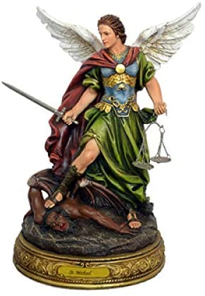 Catholic & Religious Gifts, STATUE 24 ST MICHAEL WITH BALANCE/SCALES