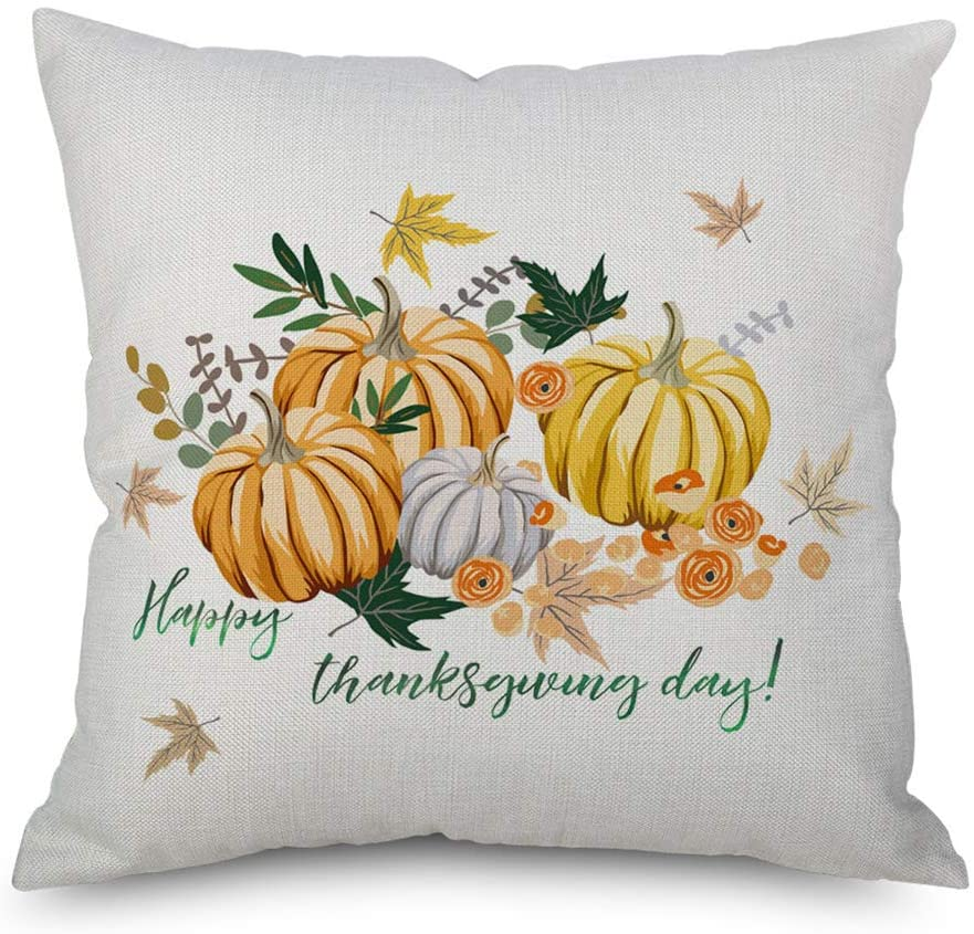 lipiny Fall Pillow Cover 18x18 inch Pumpkin Patch Throw Pillow Cover for Fall Decor Home Decorative Throw Cushion Cover
