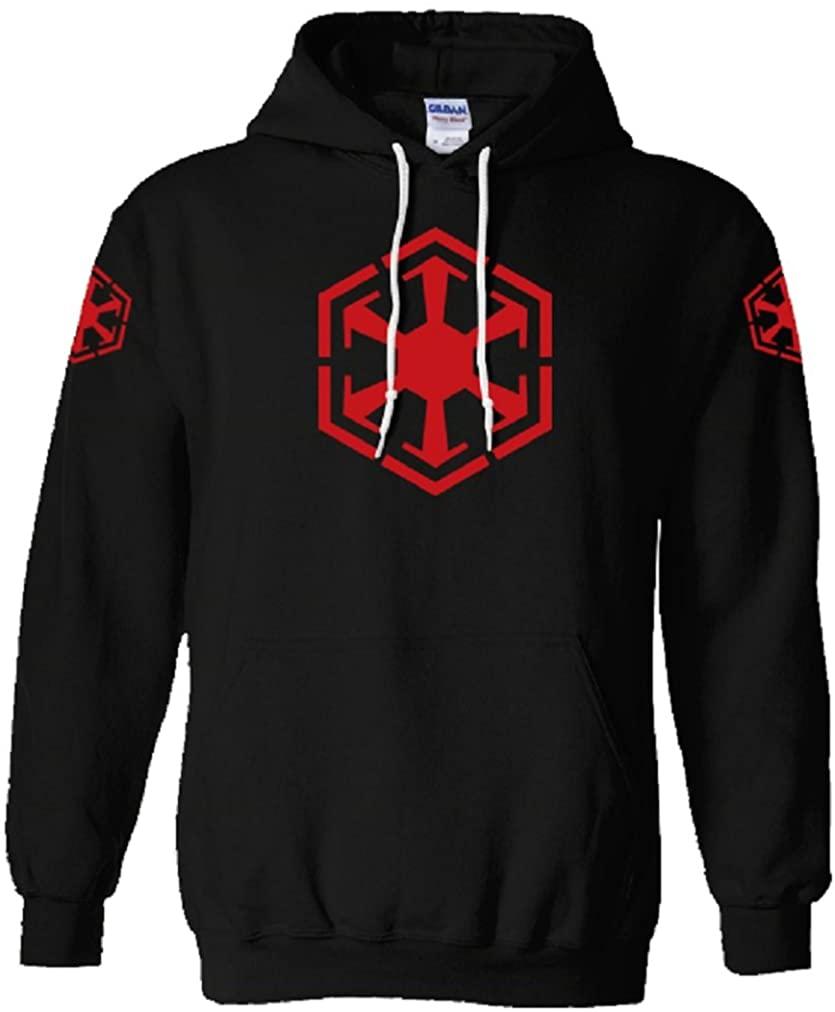 Unisex Mens Womens Black Sith Code No Zip Hoodie Hooded Sweatshirt