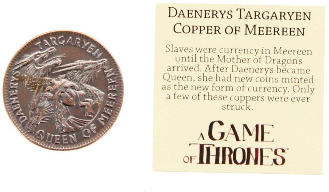Game of Thrones Daenerys Targaryen Queen of Meereen Copper Coin
