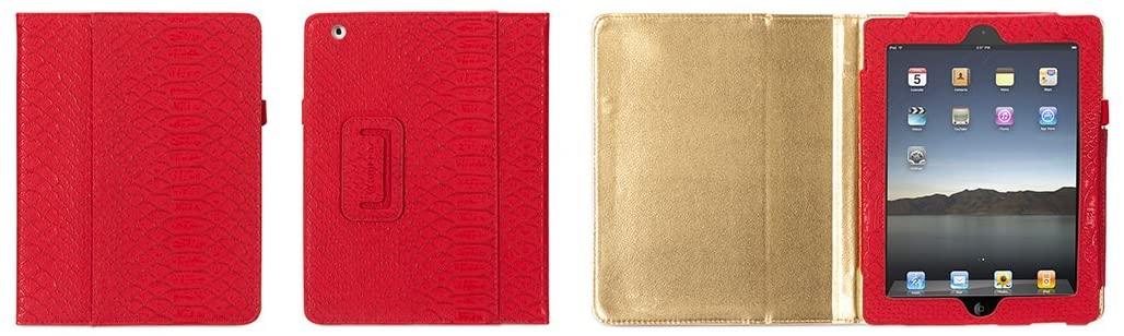 Griffin Red Python Elan Folio Exotics for iPad 2, iPad 3 and iPad 4th Gen - Stylish Folio case (GB35486)