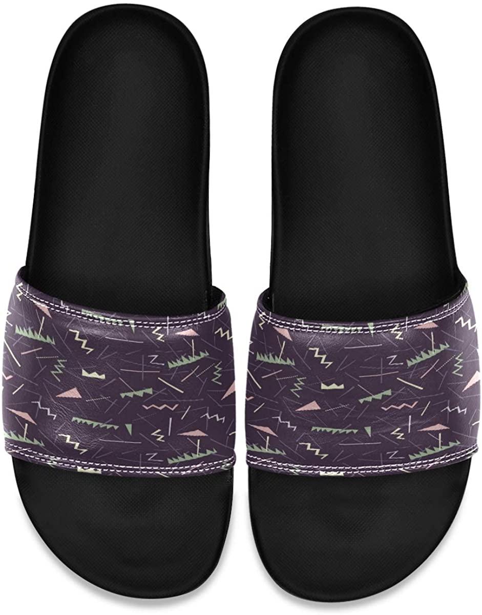 Vector Hand Drawn Ink Mens Indoor Outdoor Bedroom Slippers Adjustable Sandals