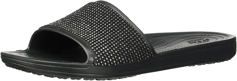 Crocs Women's Sloane Ombre Diamante Slide Sandal