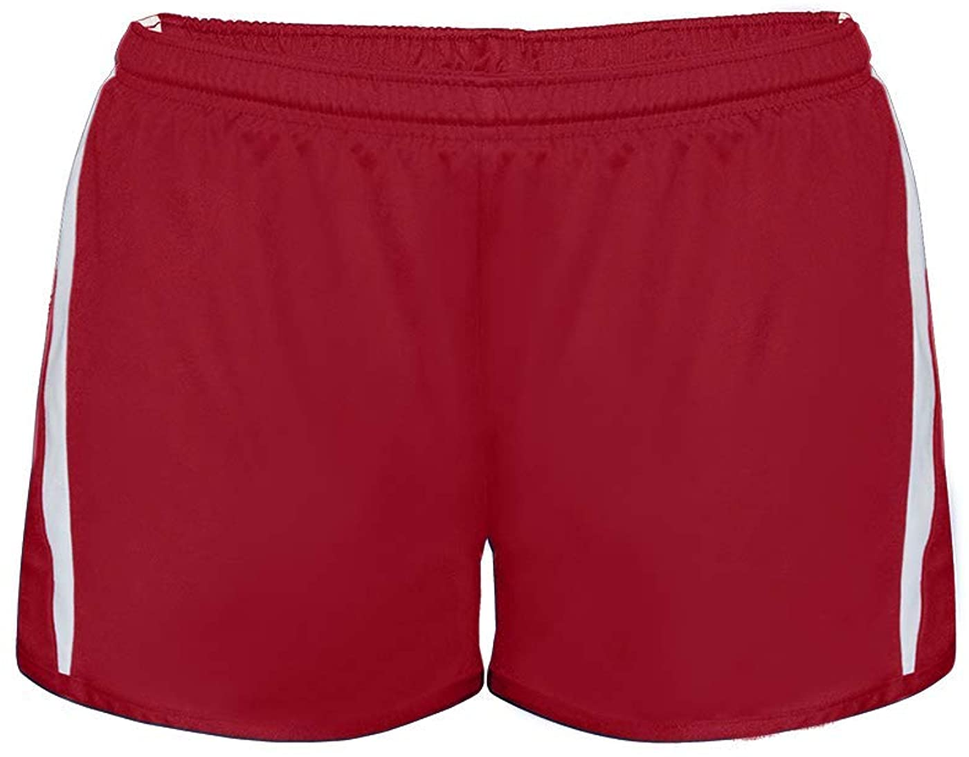 Badger Sport Red/White Women's Large Wicking Running Shorts