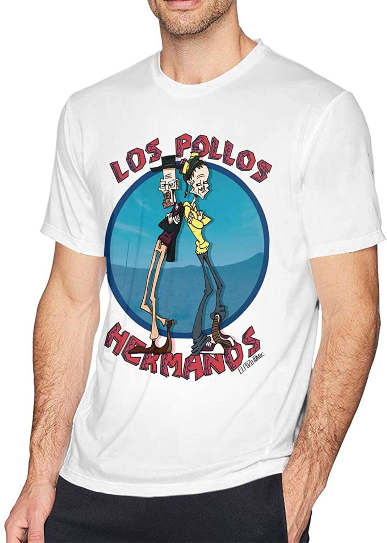 Gerneric Los Pollos Hermanos Fashion Cotton Mens Short Sleeve Printed T-Shirt White