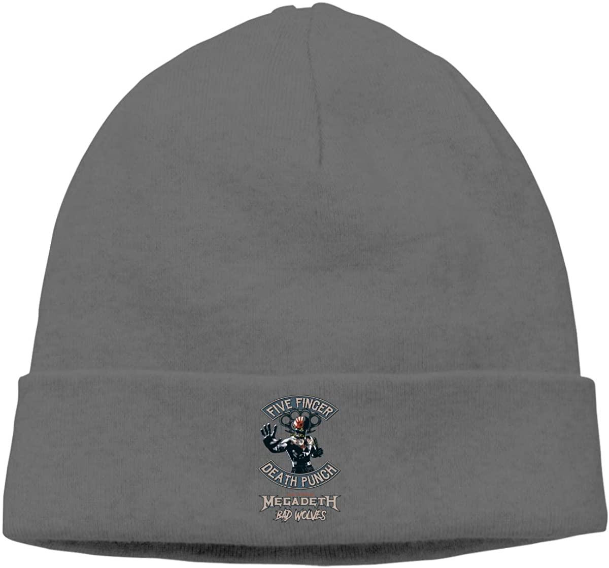 JorgAkem Five Finger Death Punch Thin Knit Beanies Mens Womens Winter Hats Hedging Caps