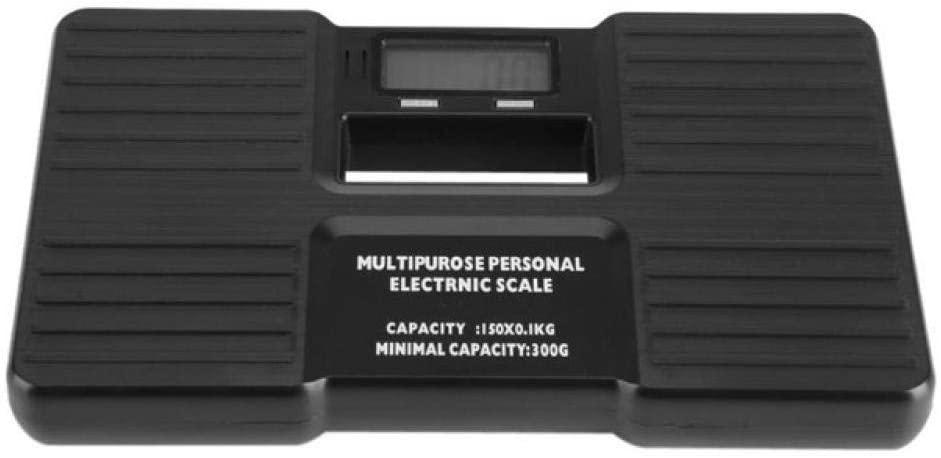HJTLK Digital Bathroom Scales,Body Weight Electronic Scales Digital Corporal Floor Bathroom Scales,180Kg/400Lb Black
