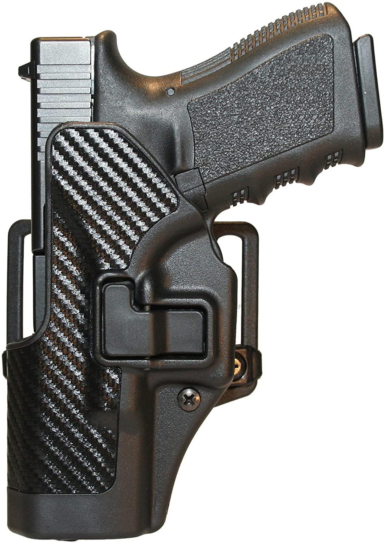 BLACKHAWK Serpa CQC Carbon Fiber Appliqué Finish Concealment Holster, Size 05, Right Hand, (Sig 228/229/250DC w or w/o rail)