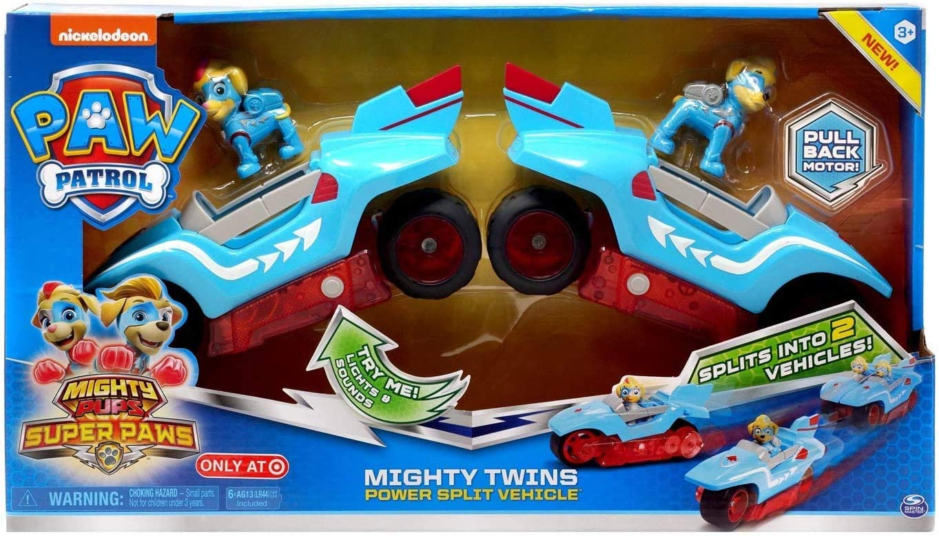 Nickelodeon Paw Patrol Mighty Pups Super Paws Mighty Twins Power Split Vehicle