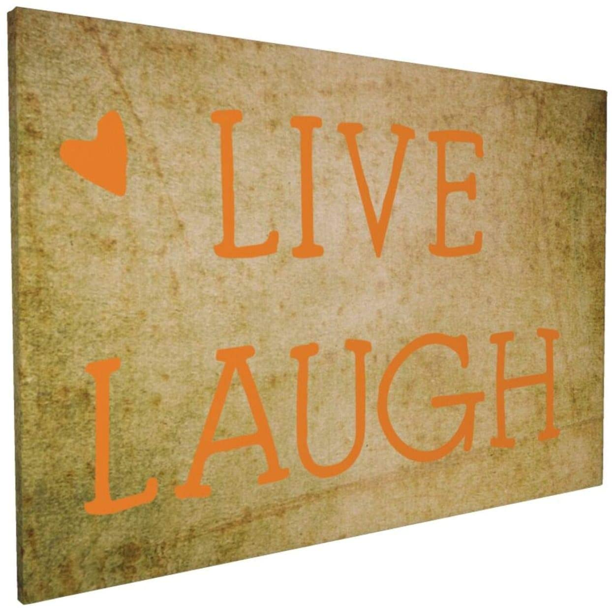 Canvas Wall Art with Live Laugh Love Painting Print, 16 x 24 Pictures Paintings Artwork Framed for Living Room Home Decoration