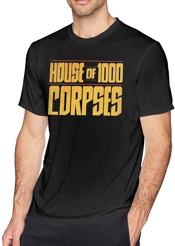 Gerneric Captain Spaulding House of 1000 Corpses Sid Haig Fashion Cotton Men's Short Sleeve Printed T-Shirt Black