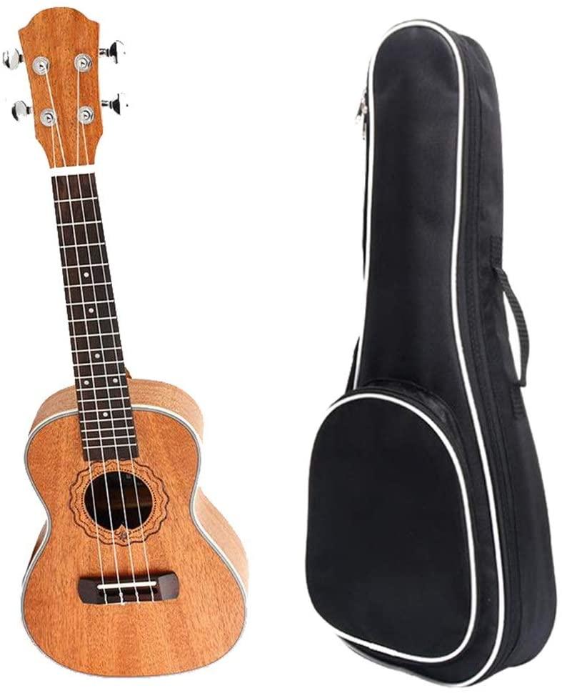 Rnwen Ukuleles 23 Inches Traditional Concert Ukulele Mahogany Wood Uke Hawaii Kids Small Guitar with Gig Bag for Kids Students Beginners Ukulele (Color : Wood, Size : 23 inches)