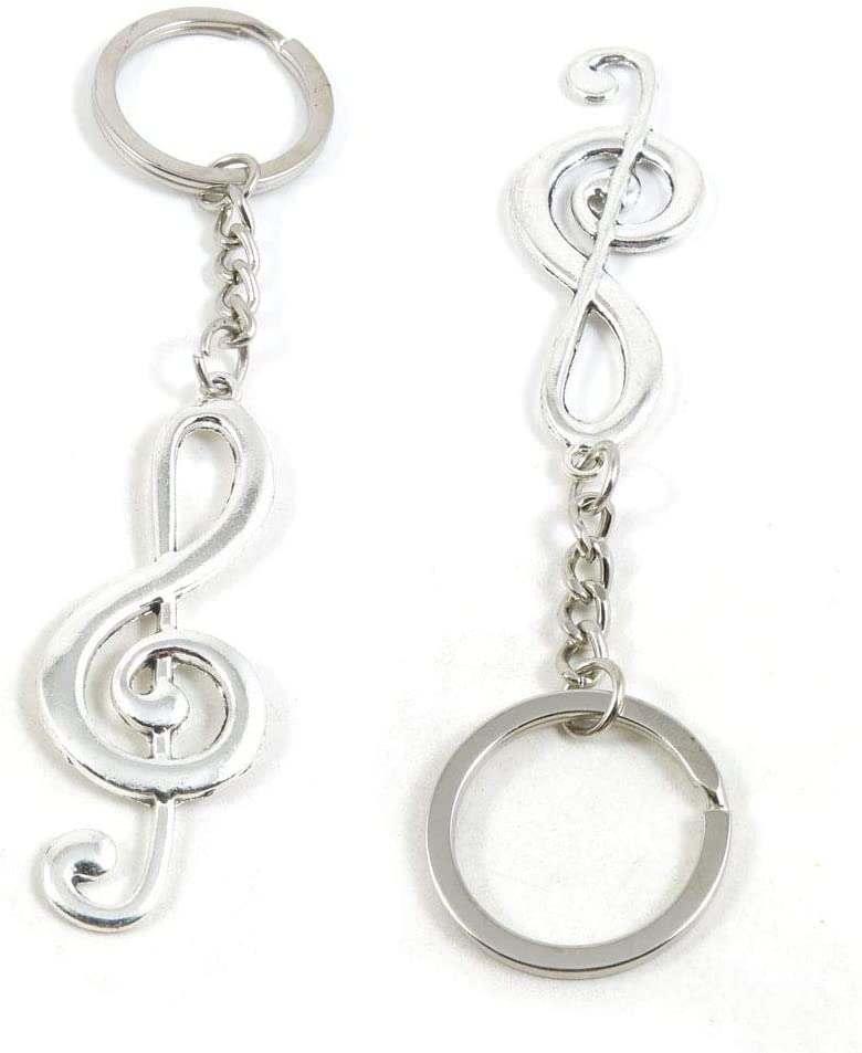 1 Pieces Keyring Keychain Wholesale Suppliers Jewelry Clasps E4ZK6O Music Musical Note