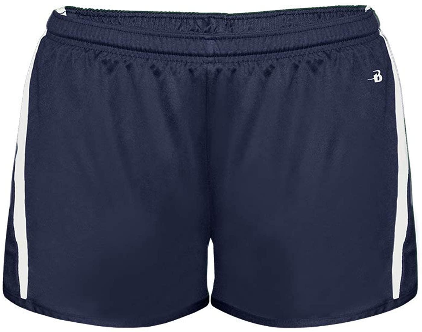 Badger Sport Navy/White Womens XL Wicking Running Shorts