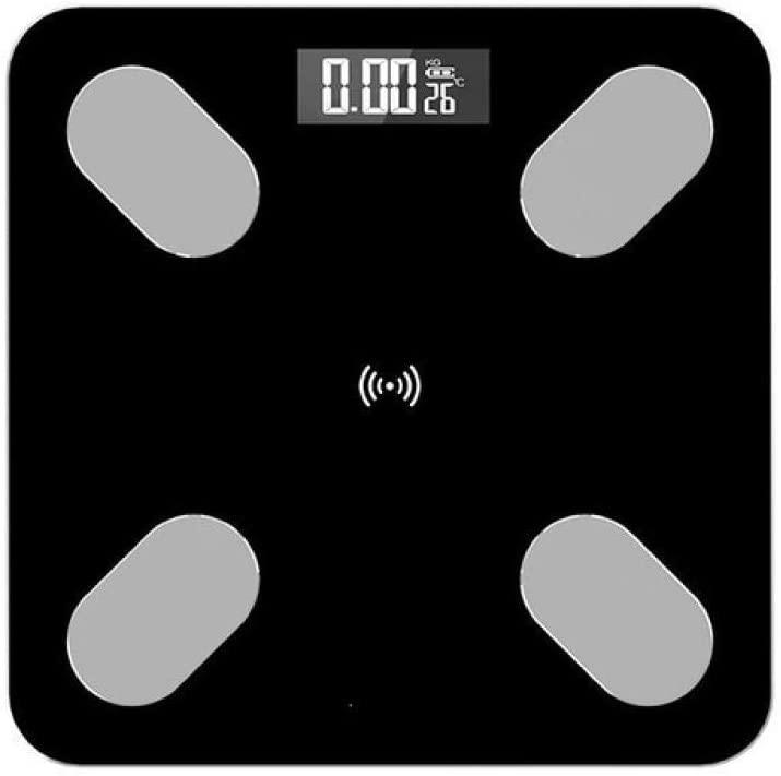 HJTLK Digital Bathroom Scales,Weighing Scale,Smart Bmi Scale,LED Digital Bathroom Wireless Weight Scale,180Kg,Black