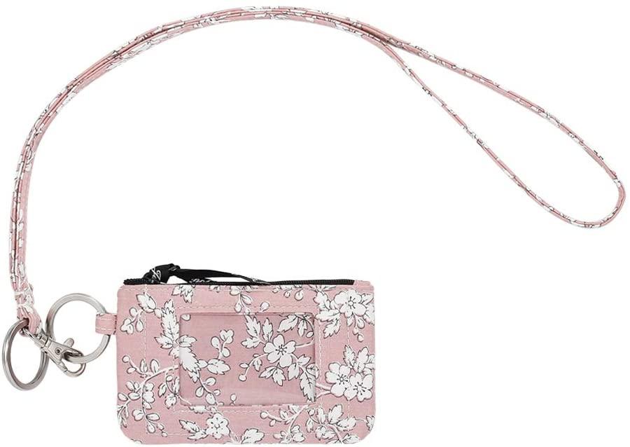 Zip ID Case with Lanyard, Fashion Lanyard Wallet, ID Case Wallet with Lanyard