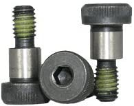 Socket Head Shoulder Screw, 1/2 inch x 2 1/4 inch, Heat Treated Alloy Steel, Black Oxide, 3/8-16 Thread Size (Quantity: 25 pcs), Shoulder Diameter: 1/2 inch, Shoulder Length: 2.25