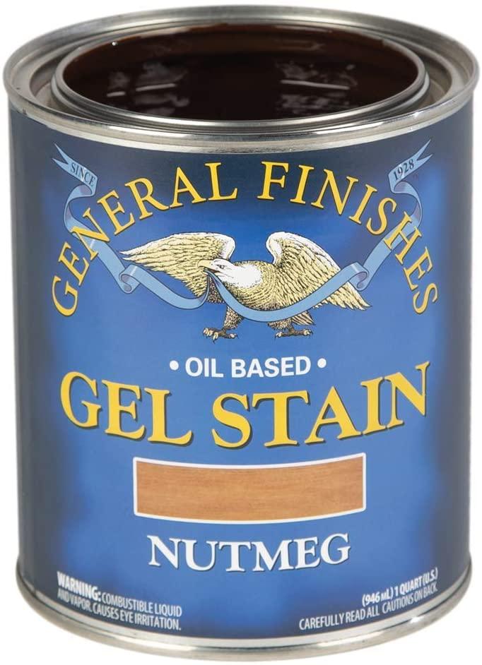 General Finishes Oil Base Gel Stain, 1 Quart, Nutmeg
