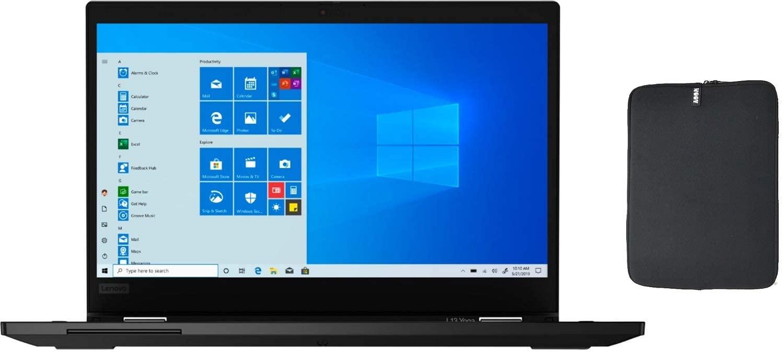 Lenovo ThinkPad Yoga L13 2 in 1 13.3 Inch FHD Touchscreen Business Laptop with Woov Sleeve, Intel Quad Core i5-10210U (Beat i7-7500U), 8GB RAM, 512GB PCIe SSD, Backlit Keyboard, USB-C, Windows 10