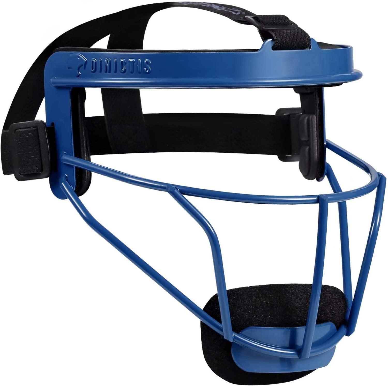 Dinictis Softball Face Mask, Broad Vision, for All Ages, Lightweight Durable Safe Fielder Mask, for Softball, Baseball, Teeball