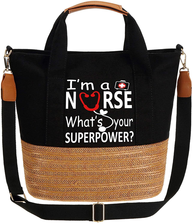 IN.RHAN Women's Handbag Nurse Power Top Handle Work Tote Shoulder Bag