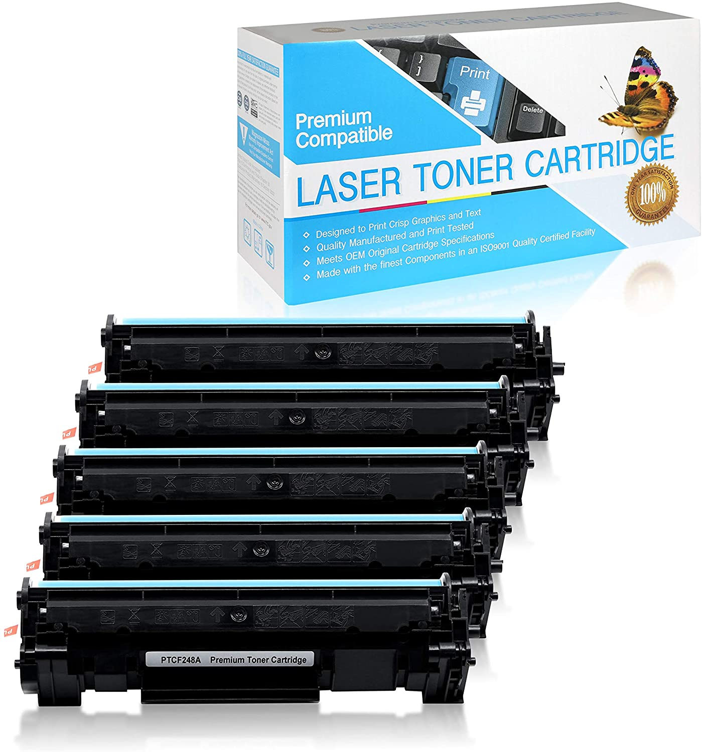 SuppliesOutlet Compatible Toner Cartridge Replacement for HP 48A / CF248A (Black,5 Pack)
