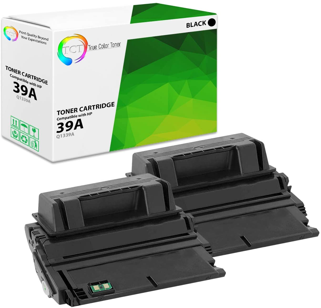 TCT Premium Compatible Toner Cartridge Replacement for HP 39A Q1339A Black Works with HP Laserjet 4300 4300DTN 4300DTNS 4300DTNSL 4300N 4300TN Printers (20,000 Pages) - 2 Pack