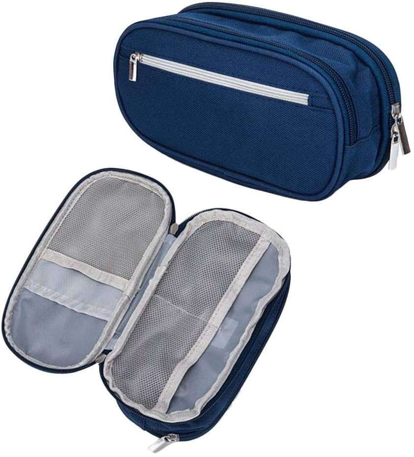 Pencil Case, Large Capacity Pencil Case for Boys and Girls, Pen Case Pencil Pouch with Big Compartments for School|8.3x3.9x2.4''|Blue