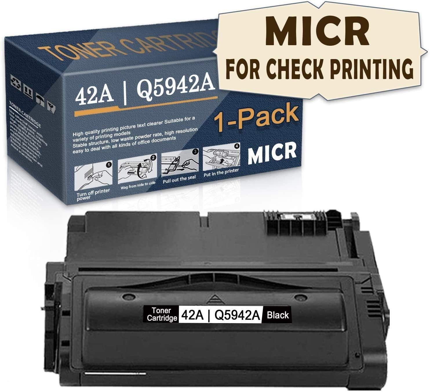1-Pack ofBlack 42A Compatible 42A   Q5942A MICRToner Cartridge(MICR for Check Printing) Replacementfor HP Laserjet 4200TN 4250tn 4250 4200 4300tn 4200N 4200dtn 4250n 4300n Printer,bySatink.