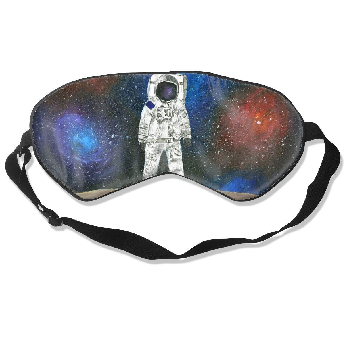 Darkt Space Astronaut Sleep Mask Funny Lightweight Blindfold Cover Eyeshade for Women Men Kid with Adjustable Strap Plane Travel Naps Shift Works Games