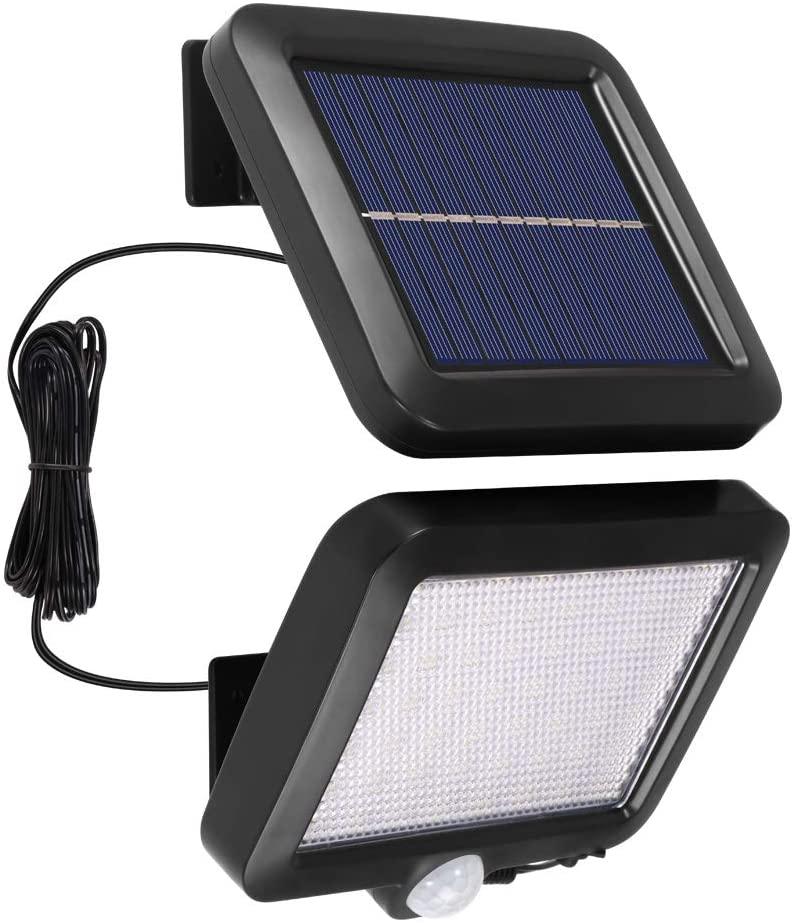 Vvciic LED Solar Wall Light, 56 LED PIR Motion Sensor Lights, Waterproof Outdoor Garden Light, Solar Security Lamp for Yard Street, Garage, Driveway