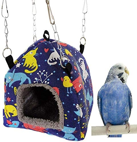 Bird Nest House Hanging Hammock Bed Toy for Pet Parrot Budgie Parakeet Cockatiel Conure Cockatoo African Grey DHgate Lovebird Finch Canary Hamster Rat Gerbil Chinchilla Ferret Squirrel Cage (M)