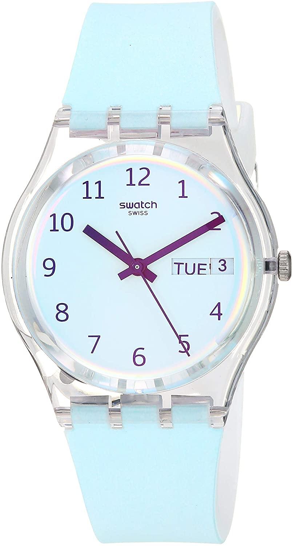 Swatch Transformation Quartz Silicone Strap, White, 16 Casual Watch (Model: GE713)